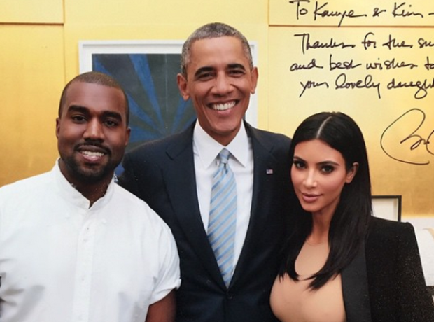Kanye West Kim Kardashian Barack Obama