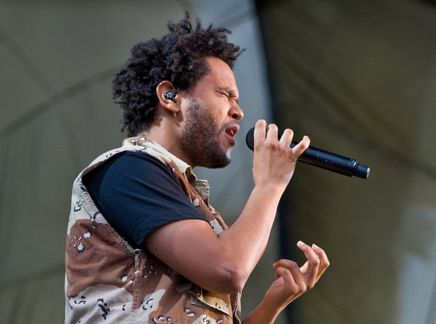 The Weeknd performs during 2012 Lollapalooza