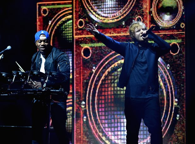 Ed Sheeran and Rudimental MTV EMA's 2015