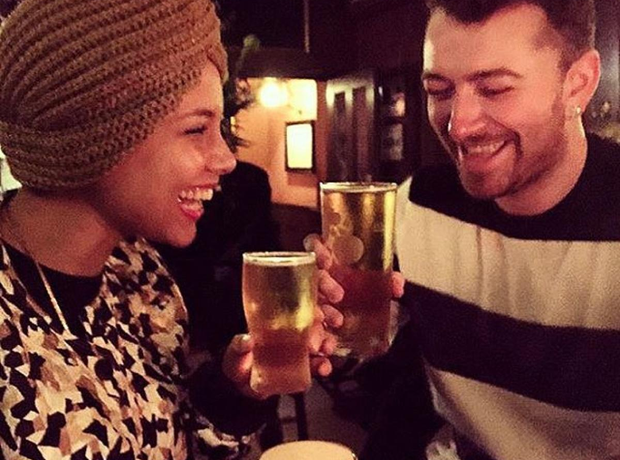 Sam Smith and Alicia Keys