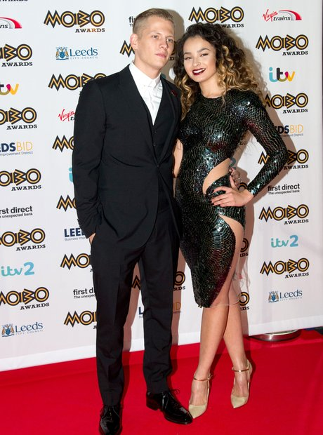 Ella Eyre and boyfriend MOBO Awards 2015