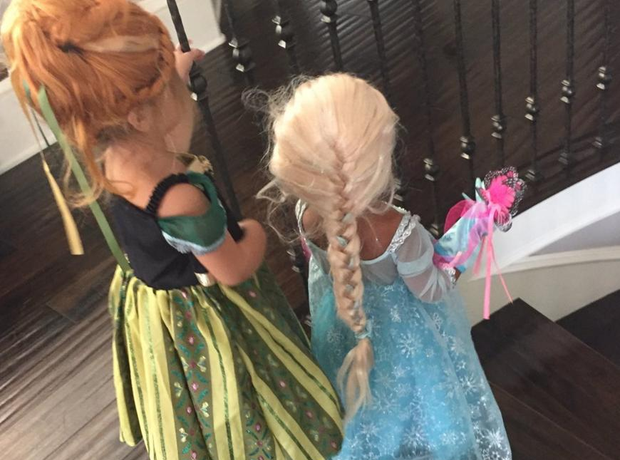 North West and Penelope Disick Halloween 2015