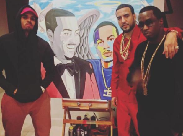 Chris Brown French Montana Painting