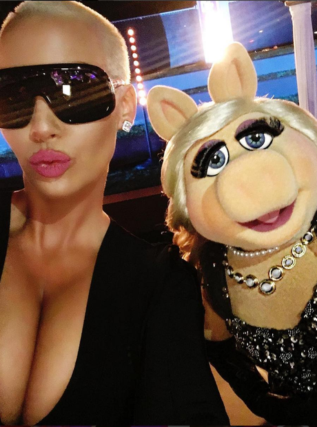 Amber Rose and Miss Piggy