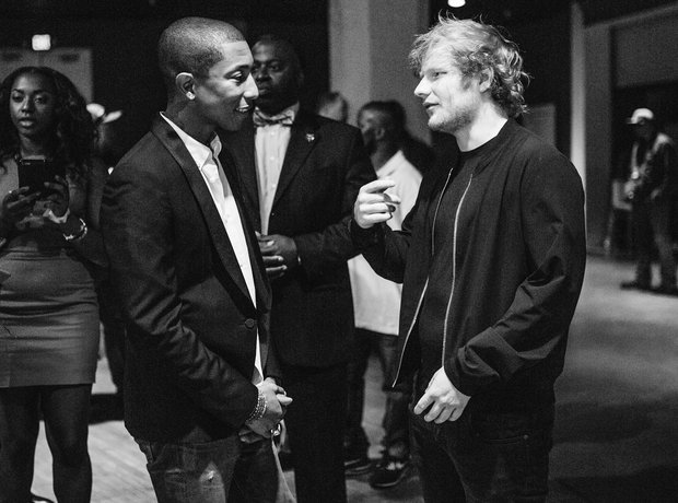 Pharrell and Ed Sheeran