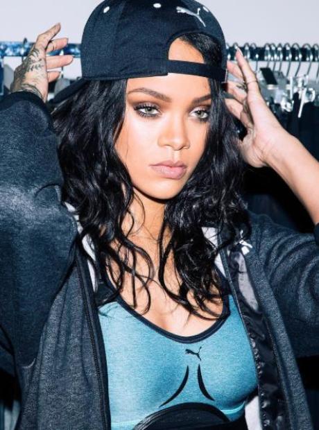 Rihanna Modelled Puma's New Sportswear Range.