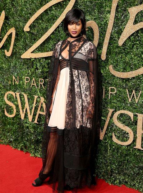 Naomi Campbell at the British Fashion Awards 2015