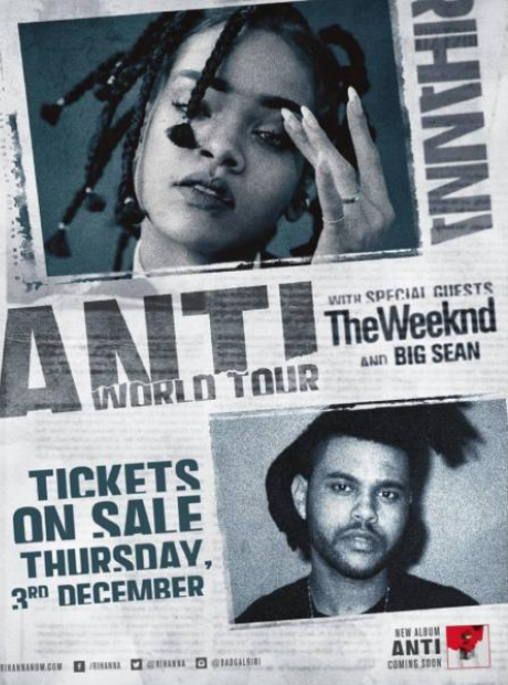 Rihanna ANTI tour flyer