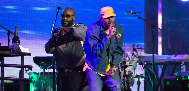 Rick Ross And Chris Brown Perform 'Sorry' And 'Back To Sleep
