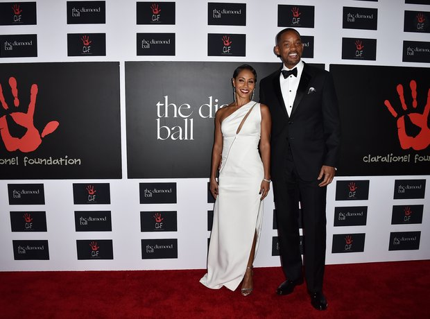 Will and Jada Smitb Rihanna Diamond Ball