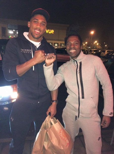 Anthony Joshua and Ras Kwame