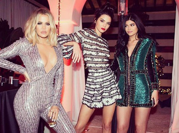 Kourtney Kendall Kylie Christmas 2015
