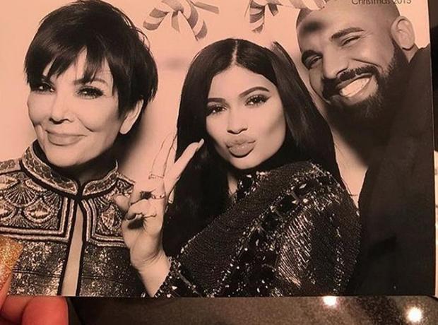 Kris Jenner, Kylie Jenner, Drake, Christmas 2015