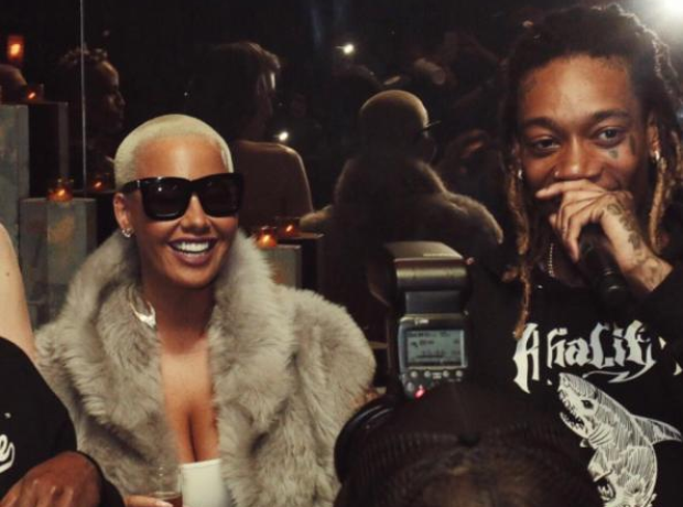 23d8aba7f61a Amber Rose and Wiz Khalifa displayed their unity after THAT Twitter feud  with Kanye West.