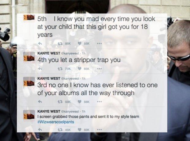 Kanye West tweets Amber Rose Wiz Khalifa