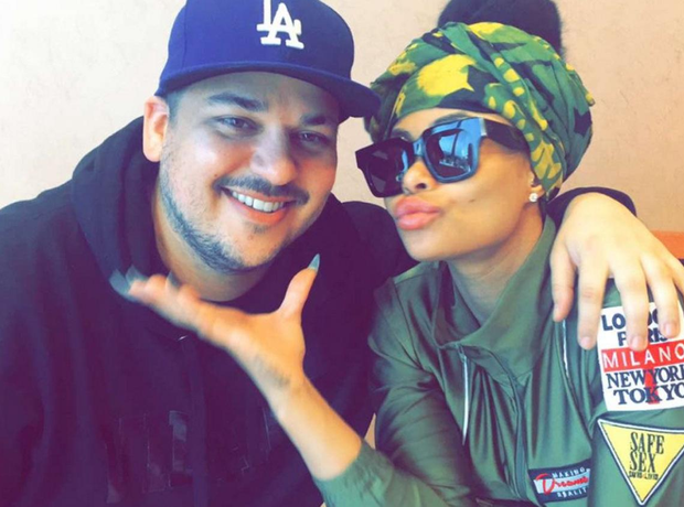 Blac Chyna and Rob Kardashian cosy up in Snapchat