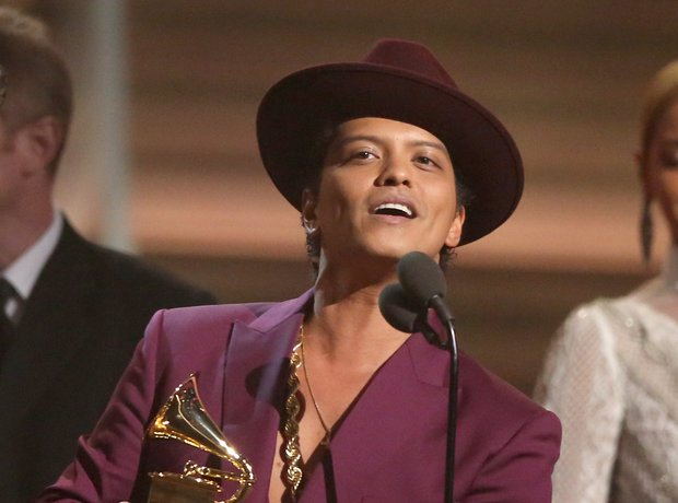 Bruno Mars at the Grammy Awards 2016
