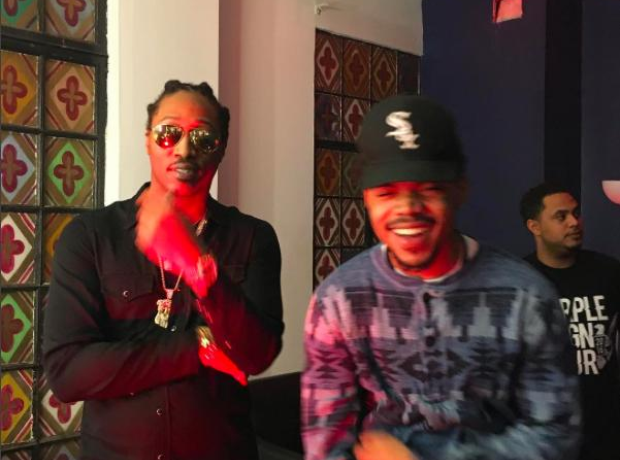 chance the rapper checked out future 39 s purple reign tour whilst in chicago capital xtra. Black Bedroom Furniture Sets. Home Design Ideas