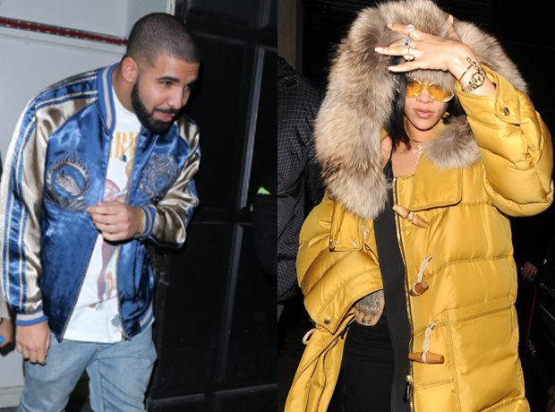 Drake Rihanna outside nightclub