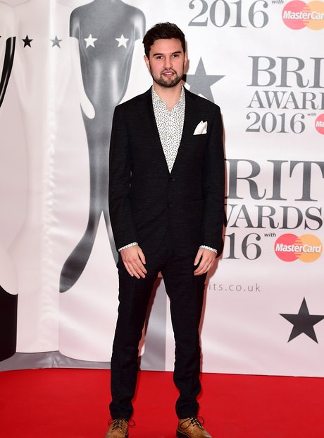 Philip George Red Carpet Arrival Brit Awards 2016