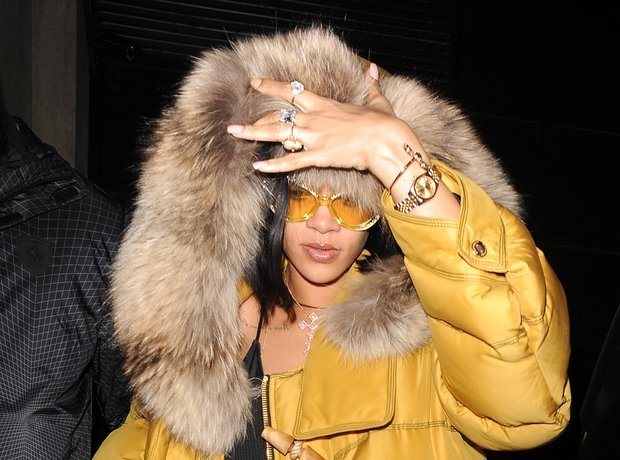 Rihanna in London ahead of Brit Awards