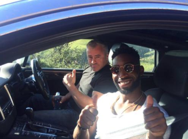 Tinie Tempah and Matt Le Blanc in car
