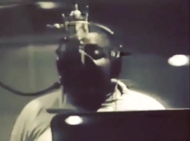 Biggie Rapping In Studio