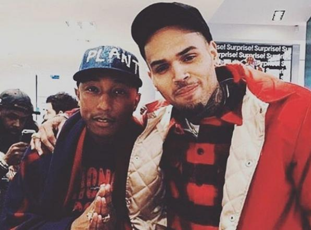 Pharrell Williams and Chris Brown