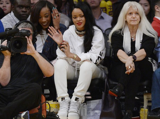Rihanna attends Basket Ball