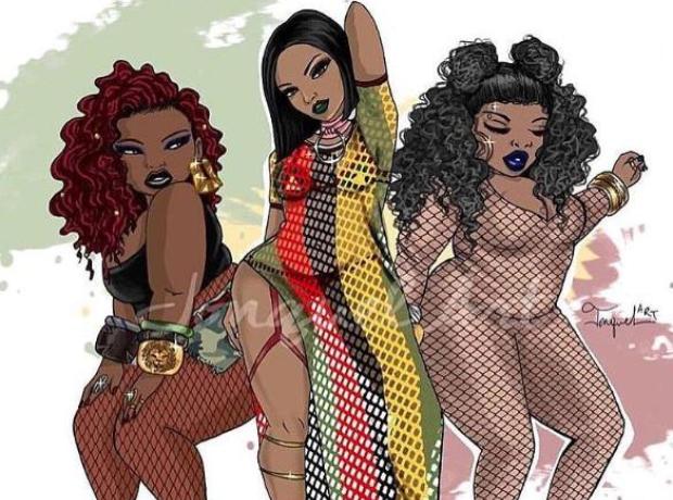 Cartoon version of Rihanna