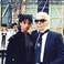 Image 5: Willow Smith stood next to Karl Lagerfeld