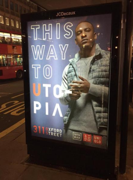 Skepta on Uniqlo Bus Advert