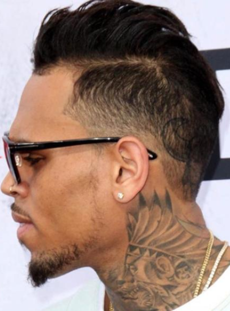 Chris Brown Hair close-up