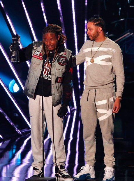 Fetty Wap accepting iHeartRadio 2016 award