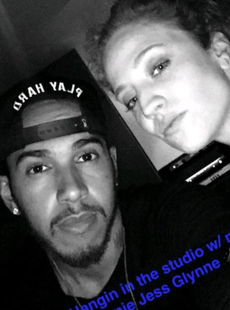 Lewis Hamilton and Jess Glynne