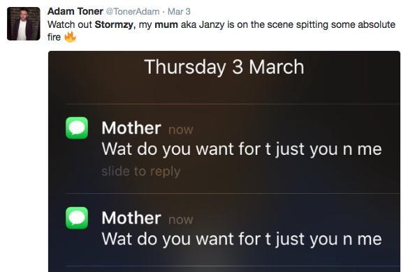 Stormzy mum tweet