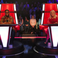 Image 6: Tinie Tempah and Zara Larsson sat on red chairs