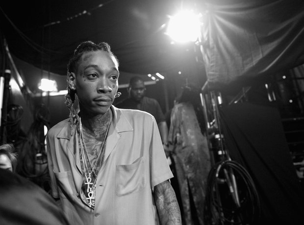 Wiz Khalifa backstage at iHeartRadio 2016 awards