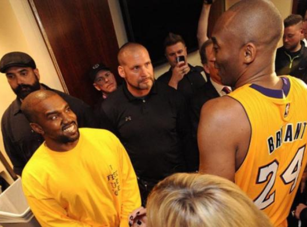 Kobe Bryant stood with Kanye West