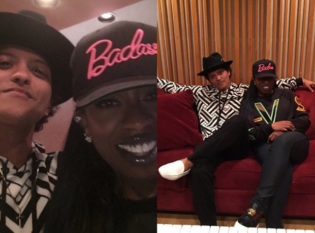 Bruno Mars & Missy Elliott In The Studio