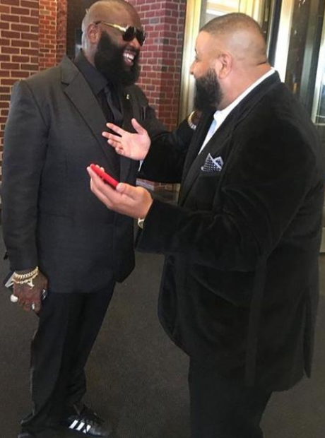 DJ Khaled and Rick Ross wearing suits