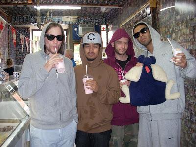Drake and OVO eating ice cream
