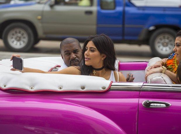 Kayne West and Kim Kardashian in Cuba