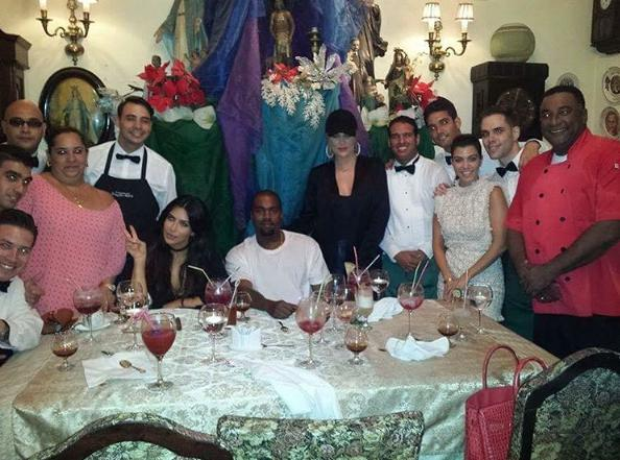 Kayne West, Kim Kardashian and family in Cuba