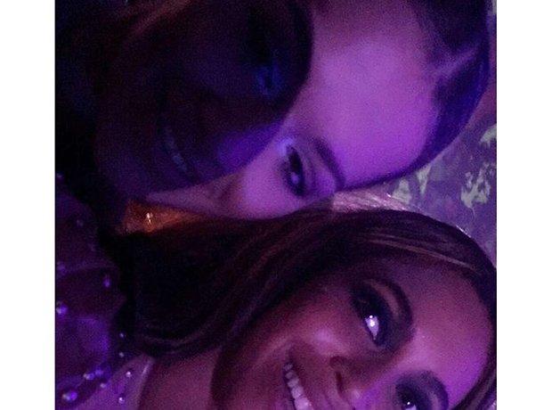 Rita Ora and Beyonce pose for selfie backstage at