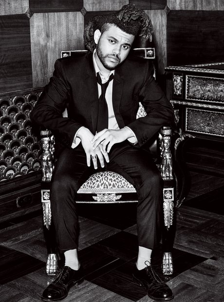 The Weeknd poses for Vogue magazine