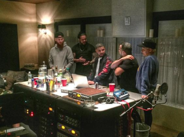Drake and French Montana in studio