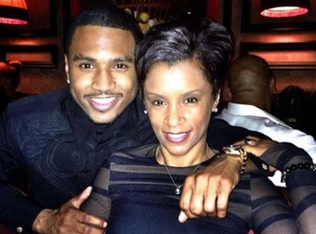 Trey Songz and his Mum