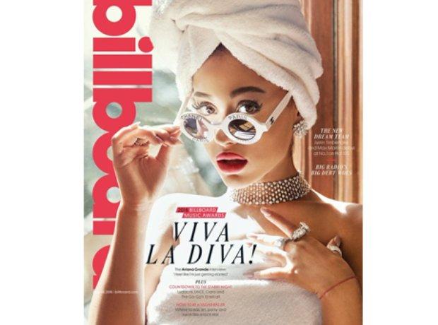 Ariana Grande on the cover of Billboard magazine