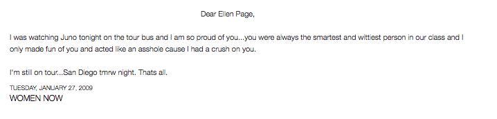 Drake Ellen Page Blog
